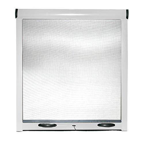 Zanzariera A Rullo Avvolgibile Universale Profilo Regolabile Riducibile Telaio In Alluminio Per Finestra Porte Portafinestra Balconi Con Frizione In Kit Fai Da Te Colore Bianco White (140 x 160)