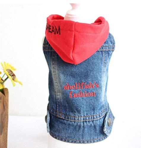MUXIAND Denim huisdier hond kleding huisdieren jas grot cowboy puppy hond kleding voor hond jeans jas casual stijl, L