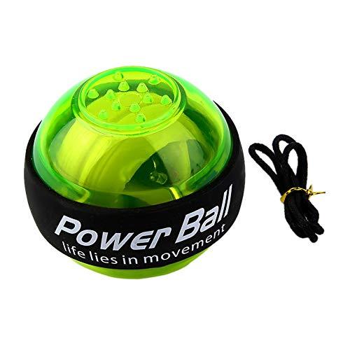 abbybubble Giroscopio LED mágico Power Ball Gyro Power Ball Brazo de muñeca Fortalecedor de Ejercicio para Estudiantes jóvenes para Personas de Oficina