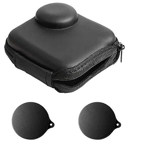 Mini Borsa Custodia per GoPro MAX impermeabile 360 videocamera + copriobiettivo in gomma con custodia,ULBTER Go pro Max scatole portatili per il trasporto Accessori [2 + 1 pezzi]