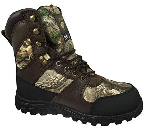 Herman Survivors 8 inch Men's Realtree Camo Waterproof Hunting Boots, Wide Width (7 W US / 25 MEX)