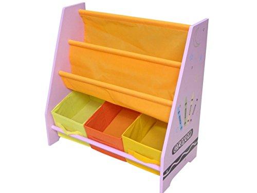 Kiddi Style Kinder Aufbewahrungsregal & stylisches Kinderregal mit 3 Boxen – Kinder Wandregal &...