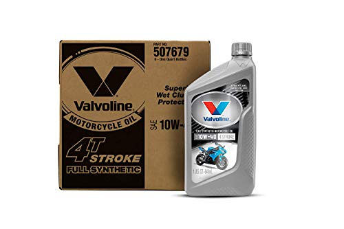 Valvoline 4-Stroke Motorcycle Full Synthetic SAE 10W-40 Motor Oil 1 QT, Case of 6