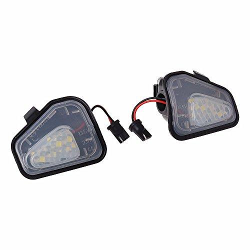 GZCRDZ 1 paire de lampes LED pour rétroviseur, pour CC 12–14 EOS Passat B7 (Blanc)