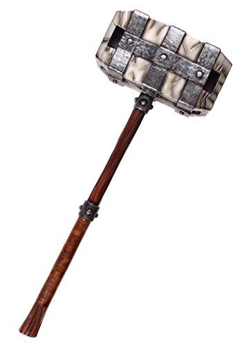 Epic Armoury IF-402609 Großer Steinhammer aus Schaumstoff Hammer Polsterwaffe Kriegshammer Vorschlaghammer Mittelalter Schaukampf Wikinger