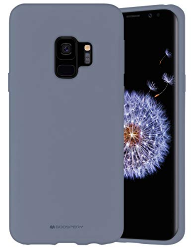 Goospery Liquid Silicone Case for Samsung Galaxy S9 (2018) Jelly Rubber Bumper Case with Soft Microfiber Lining (Lavender Gray) S9-SLC-LGRY