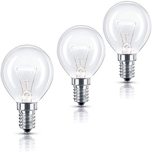 Utiz Glühbirne für Backofen, GLS, 40 W, 240 V, E14, SES P45, bis 300 °C, 3 Stück