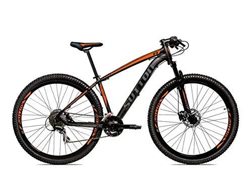 Bicicleta Aro 29 Sutton New Shimano 27v Freio Hidráulico Suspensão Com Trava (Laranja, 21)