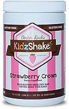 KidzShake - Kids Strawberry Cream Organic Protein Powder | Nutritional Meal Replacement Shake - Non GMO, Gluten Free, & Complete Multivitamin w/ Probiotics, 12.13 oz