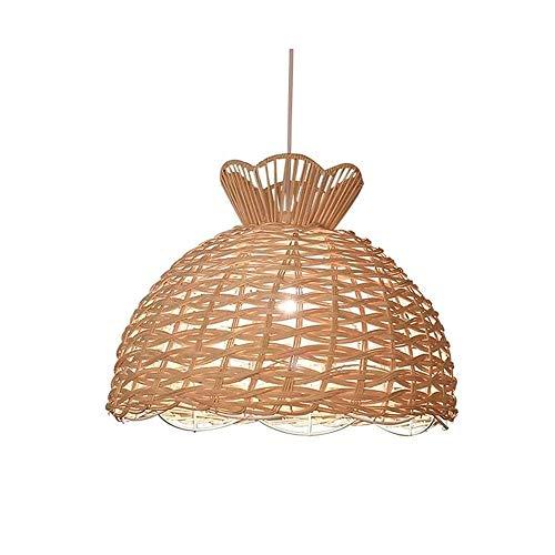 Luz colgante moderna Araña hueca de un solo cabeza interior creativa, productos de bambú hecha a mano de la lámpara de araña, 39 × 32 cm lámpara de araña ajustable, adecuada for lámparas de corredor d
