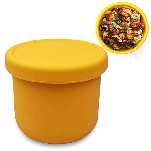 Ytesky Fiambrera para niños, caja de almuerzo para niños, a prueba de fugas, apta para microondas y lavavajillas, para guardería, escuela y picnic (amarillo, 250 ml)