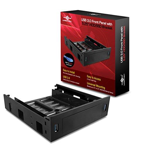 Vantec HDA-502H Carcasa de Disco Duro/SSD 2.5/3.5' Negro Caja para Disco Duro Externo - Disco Duro en Red (2.5/3.5', 7,15 mm, 3.0 (3.1 Gen 1), USB Type-A, Macho, Carcasa de Disco Duro/SSD)
