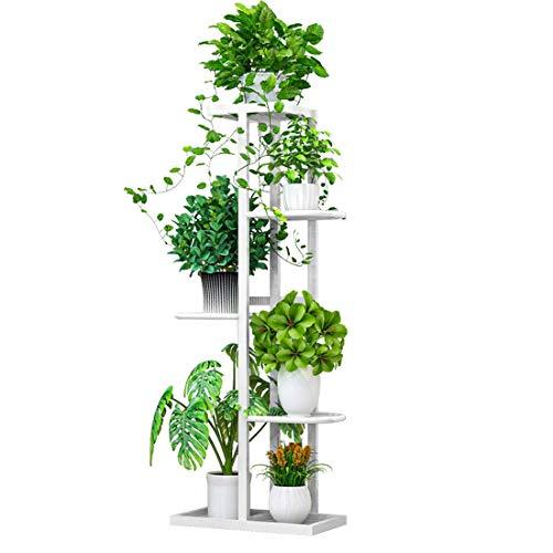 U/A Soporte multifuncional de cinco niveles para plantas, soporte de macetas, soporte de metal,...