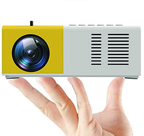 Proyector portátil de Cristal líquido LED de Color Completo para niños proyector de vídeo, película de televisión de vídeo, Juegos de Fiesta, Entretenimiento al Aire Libre con Interfaz HDMI USB AV