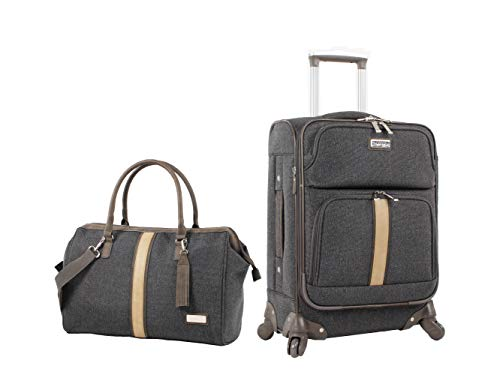 Nicole Miller 2 Piece Softside Luggage Collection -...