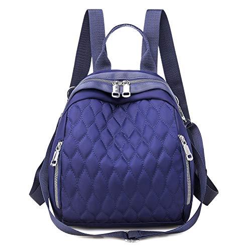 Mochila Mujer versión coreana de la nueva impermeable multifuncional al aire libre de ocio bordado bolsa de viaje-azul-