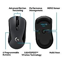 Logitech G603 LIGHTSPEED Mouse Gaming Wireless - Bluetooth con Ricevitore USB, Sensore 12K HERO, 12.000 DPI, Leggero, 6 Pulsanti Programmabili, Batteria 500h, PC/Mac - Nero #2