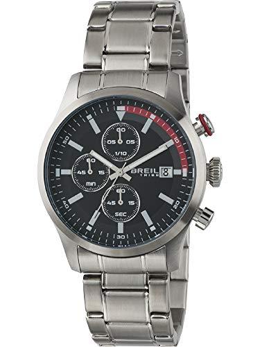 BREIL horloges Tribe Drift heren chronograaf zwart roestvrij staal - EW0411