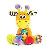 Playgro Peluche d'Activités Girafe, Jouet d'Activités, Dès la Naissance, Sans BPA, Discovery Friend Giraffe, Orange/Multicolore, 40155