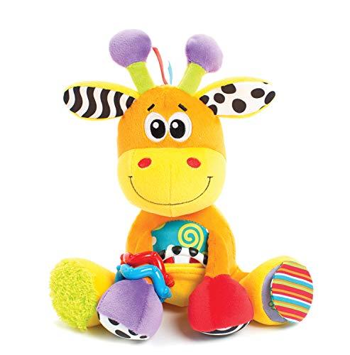 Playgro Activity Freund Giraffe, Lernspielzeug, Ab 0 Monaten, BPA-frei, Discovery Friend Giraffe, Orange/Bunt, 40155