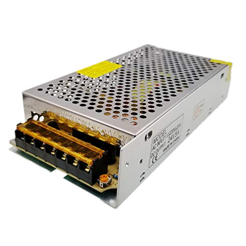 JZK DC 24V 5A 120W LED Netzgeraet Schalter Transformer, AC 100V-240V auf DC 24V Transformator Adapter Netzteil für LED-Lichtstreifen, 3D Drucker
