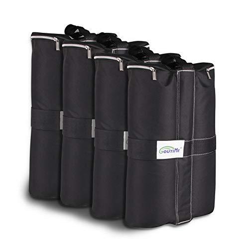 Goutime 18kg Zelt Gewichte Sandsäcke Beschwerer Standfuss Für Pavillon,4er Set Schwarz