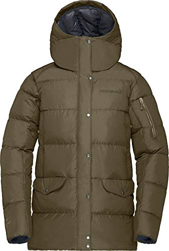 Norrona W Roldal Down750 Jacket Grün, Damen Daunen Freizeitjacke, Größe L - Farbe Olive Night