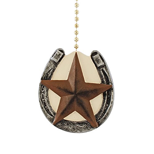 Horseshoe with Barn Texas Star Primitive Design Ceiling Fan...