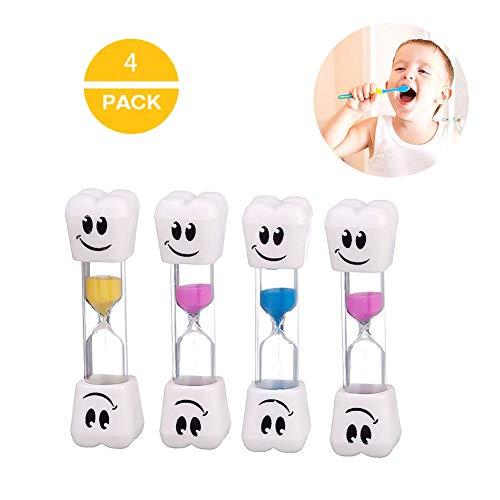 nobrand Reloj de arena para niños, temporizador de cocina, temporizador de arena, temporizador para cepillos de dientes de niños (4 unidades)