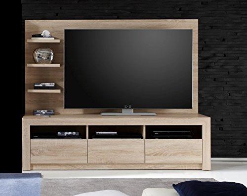 trendteam SV31845 TV Möbel Lowboard Eiche Sonoma hell, BxHxT 164x46x48 cm - 2