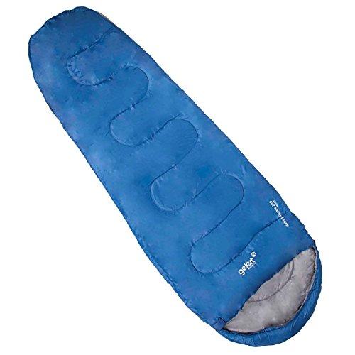Gelert Hebog 200 Sleeping Bag Envelope Warm Design Ridge Hood Camping Accessory by Gelert