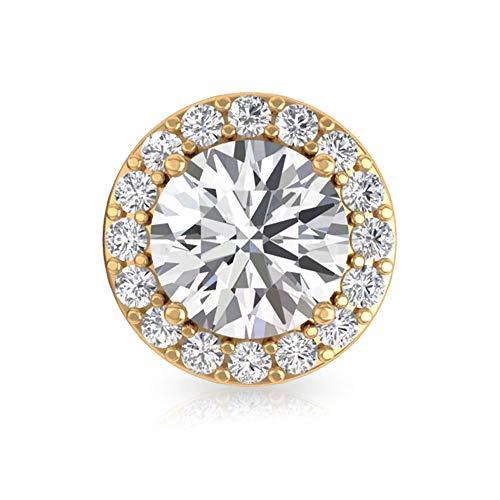 Rosec Jewels 10 quilates oro amarillo Round Brilliant Moissanite