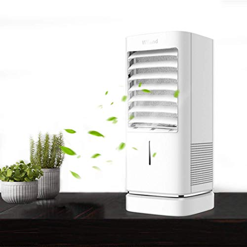 Klimaanlage Lüfter Luftkühlung Air Cooler Fan,Multifunktionaler Mobile Klimageräte Desktop Cooling Fan mit Timer/Licht für Home Office Schlafzimmer