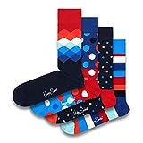 Happy Socks farbenfrohe & verspielte Multi Dots Geschenkboxen für Männer & Frauen, Premium-Baumwollsocken, 4 Paare, Größe 36-40.
