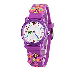 Venhoo Kids Watches 3D Cute Cartoon Waterproof Silicone Children Toddler Wrist Watch Time Teacher Birthday Gift for 3-10 Year Boys Girls Little Child