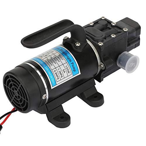 Rockyin Bomba de Presion de Agua, Bomba de agua eléctrico de 120 W 10L / m autocebante Bomba de diafragma de alta presión Lavadoras 24V / 5A