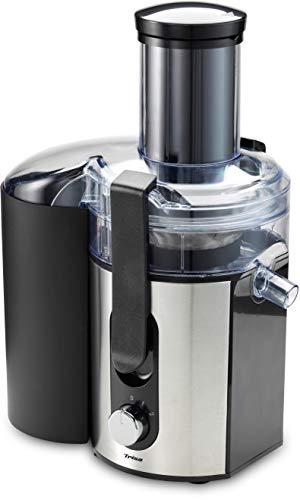 Trisa Vital Juicer Pro silber Entsafter Energie für jeden Tag mit dem universell einsetzbaren Entsafter für Obst und Gemüse 1000 W 1l Behälter 2l Auffangschale