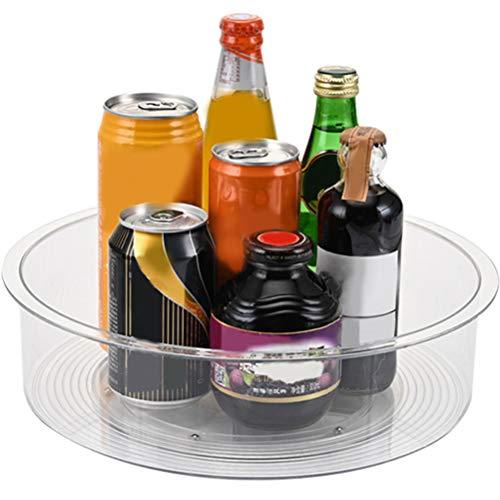 Portaspezie ruotabile, Lazy Susan Piatto girevole porta spezie, Plastica ABS di alta qualità per spezie e condimenti - 9CM