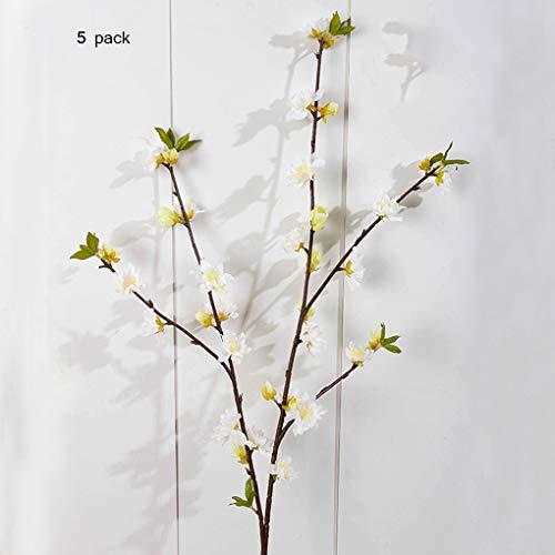Sarazong Fleur Artificielle de Fleur de pêcher, Décoration Fausse Fleur Composition Florale Salon Ameublement Faux Fleur Fleur Artificielle Fleur éternelle,E