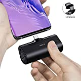 iWALK 4500mAh Portable Charger USB C Battery Pack, Compatible with Samsung Galaxy S10,S9,S8,Note 10/9/8,Moto Z3/2,LG V35/G8/7/5,Nintendo Switch,Google Pixel 4/3/2XL,OnePlus, Black