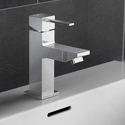 EISL NI075THI CALVINO Wasserhahn Bad eckig, Waschtischarmatur mit kantigem Design, moderner Einhebelmischer Badezimmer, Mischbatterie fürs Waschbecken, Chrom