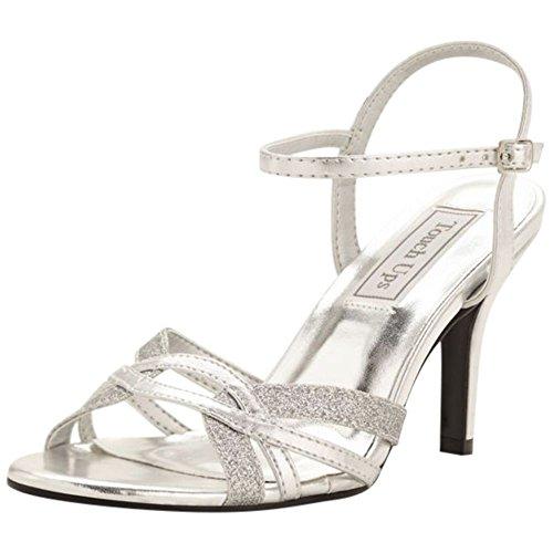 Taryn Strappy Sandal by Touch Ups Style Taryn, Silver, 6.5