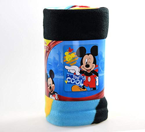"Disney Kid's Blankets & Throws Mickey Mouse Fleece Blanket, Super Soft & Warm Breathable Fabric Nap Mat, Collectible Novelty Throw for Toddlers, Boy and Girls Baby Gift 45""x 60"""
