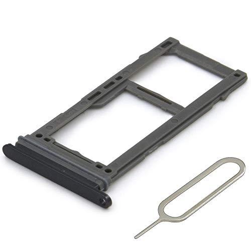 MMOBIEL Dual SIM Karte Schlitten Tray kompatibel mit Samsung Galaxy S8 G950 / S8 Plus G955 (Schwarz) inkl. SIM Pin