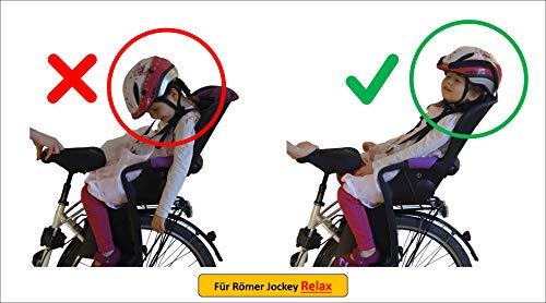 HEAD-REST Relax Kinder Kopfhalterung u. Nackenstütze zum Schlafen im Fahrradsitz Römer Jockey Relax Komplettset