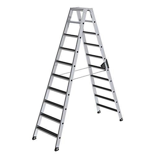 Aluminium ladder - clip-step - aan beide zijden beloopbaar, 2 x 10 treden - 41610