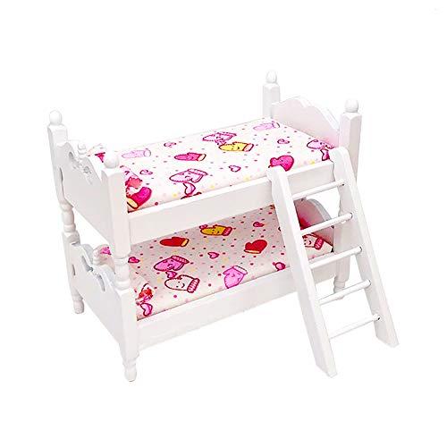 Jorzer 1 unid Mini Encantadora casa de muñecas con litera Modelo Mueble Muebles de muñeco de Bricolaje simulación de Hadas muñecas de Hadas decoración Accesorio Modelo de Guante Modelo Miniatura