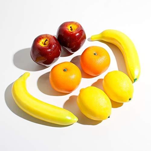 Veryhome 8 Stück Künstlich Gemischt Früchte Fake Obst Kunststoff Zum Zuhause Haus Küche Party Dekoration Festival Anzeige Lebensecht (Mischobst A, 8 Stück)