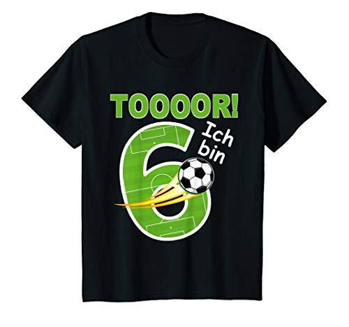 Kinder Fußball Geburtstag T-Shirt Ich bin 6 Jahre -Kindergeburtstag T-Shirt