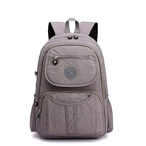 TUDUZ Student Bag Weibliche frische literarische Umhängetasche Canvas Computer Tasche Reisetasche Kinderrucksäcke(Grau)